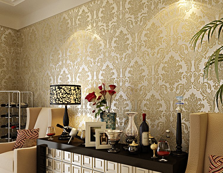 Wallpaper-European-Style-Covering-Home-Decoration